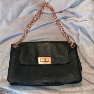 Armani Exchange black leather purse